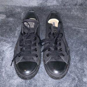 All black converse. Size 9